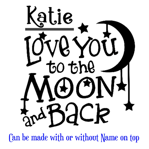 """Love you to Moon and Back (12""""x 12"""")"""
