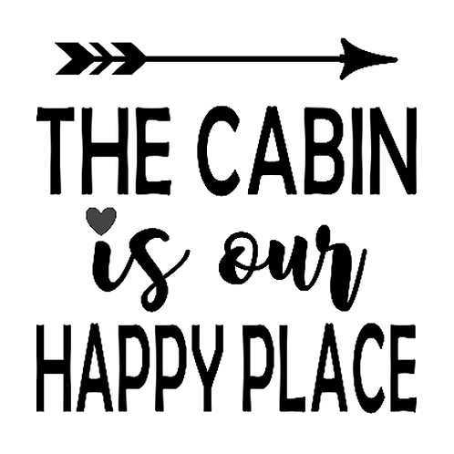 "Cabin our Happy Place (12""x12"")"