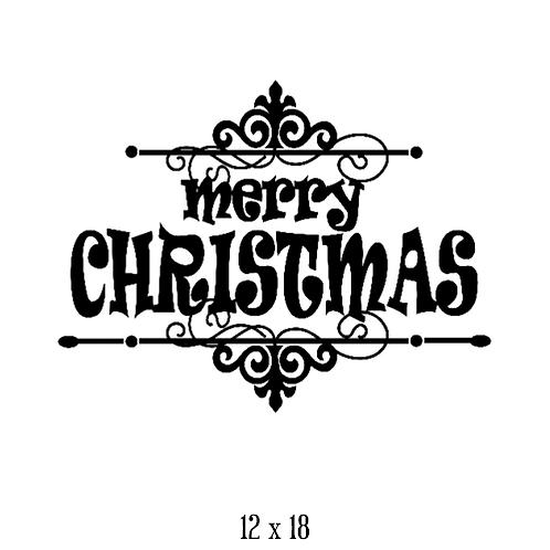 "Merry Christmas (12""x 18"")"