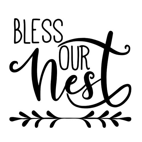 "Bless our Nest (12""x 12"")"