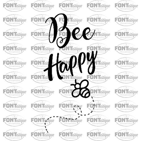 """Bee Happy (12""""x24"""")"""