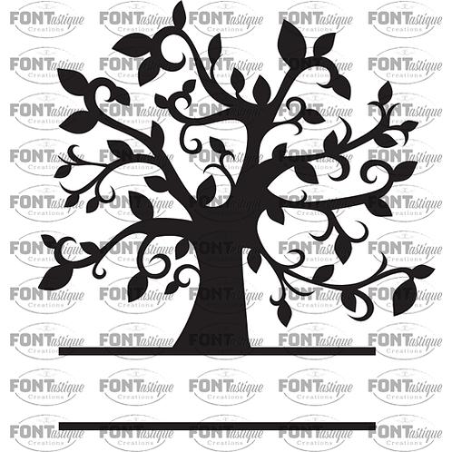 "Tree - name at bottom (12""x12"")"