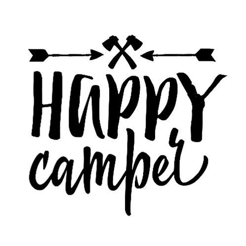 "Happy Camper (12""x 12"")"