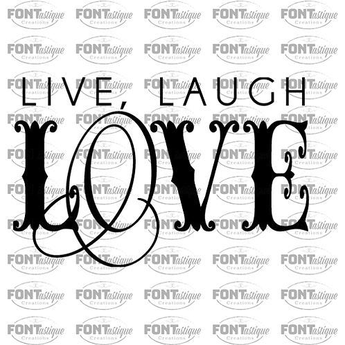 "Live Laugh Love (12""x24"")"