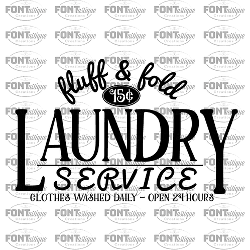 """Fluff and Fold Laundry (12""""x18"""")"""