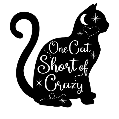 "Once cat short of crazy (12""x12"")"
