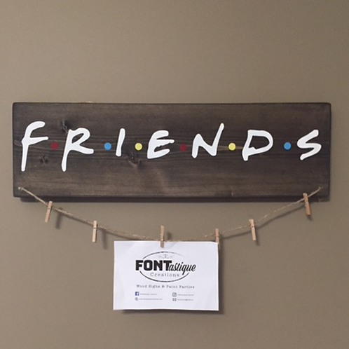 """FRIENDS"" Picture Hanger with clips (5.5"" x 18"")"