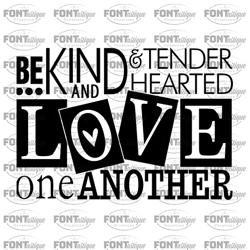 """Be Kind and Tender Hearted (12""""x12"""")"""