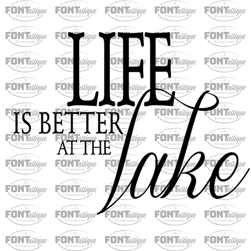 """Life is Better at the Lake (12""""x12"""")"""