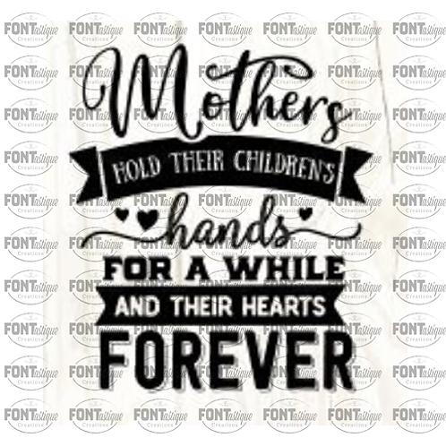 """Mothers hold their children's hands  (12""""x12"""")"""