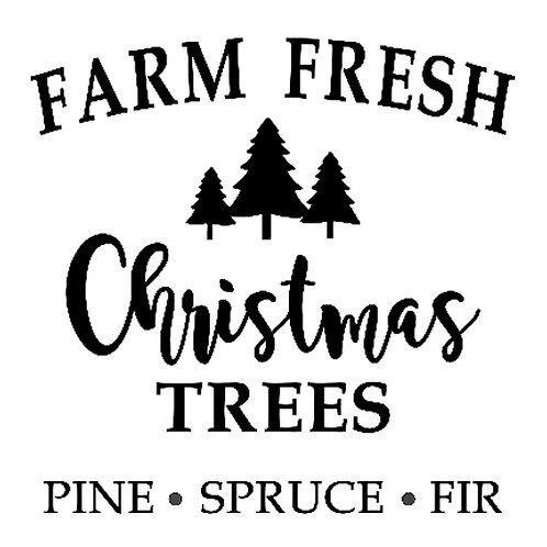 "Farm Fresh Christmas Trees (12""x 12"")"