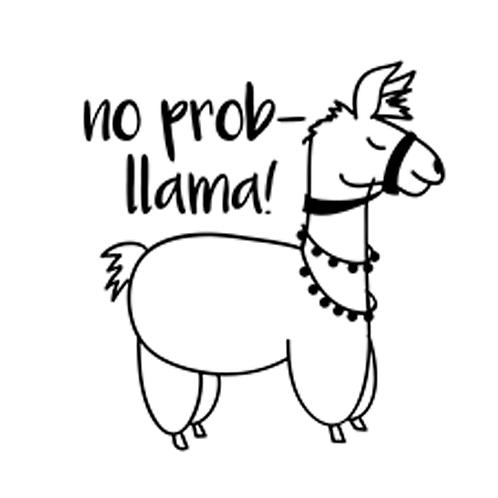 """No prob-llama (12""""x12"""")"""