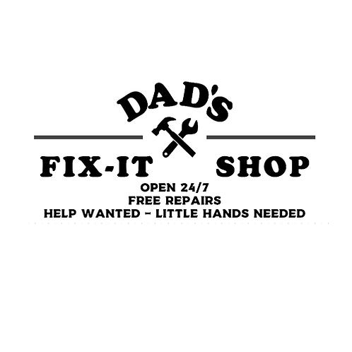 """Dad's Fix it Shop, little hands (12""""x24)"""