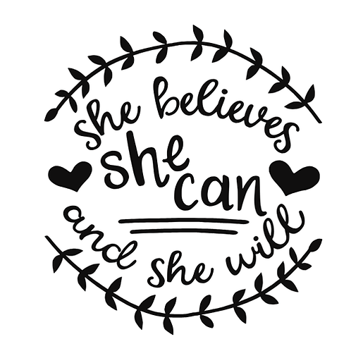 """She believes she can and she will (12""""x12"""")"""
