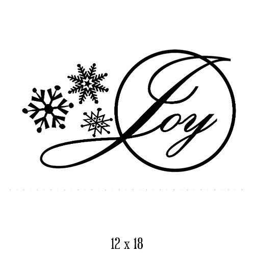 "Joy - snowflakes (12""x 18"")"