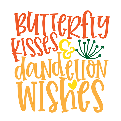 "Butterfly Kisses and dandelion wishes (12""x12"")"