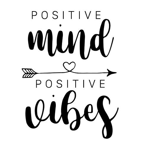 "Positive mind/vibes (12""x 12"")"