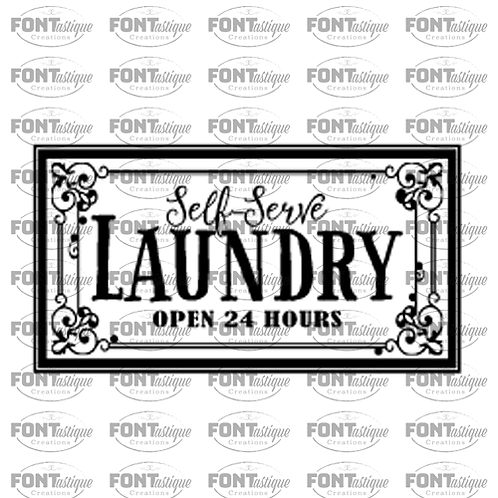 "Self Serve Laundry (12""x24"")"