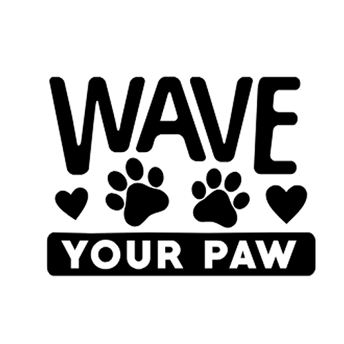 """Wave your Paw  (12""""x 12"""")"""
