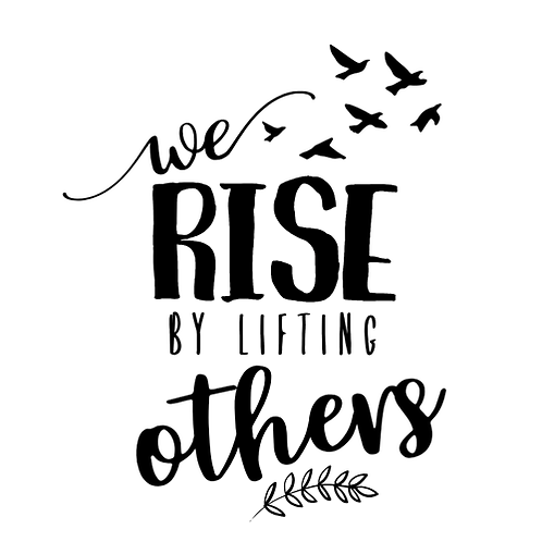 """We rise by lifting others (12""""x 12"""")"""