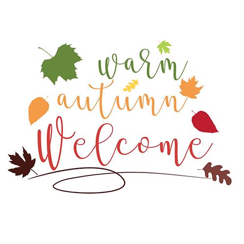 """Warm Autumn Welcome  (12""""x 18"""")"""