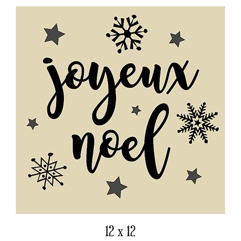 """Joyeux Noel  (12""""x 12"""")"""