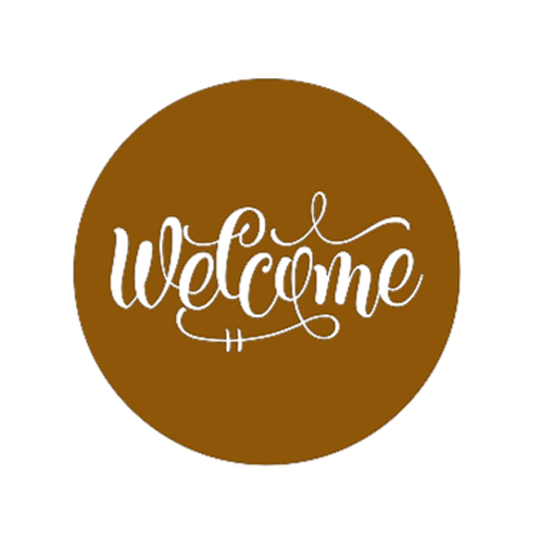 "Front Door Hanger (15"") - Welcome"