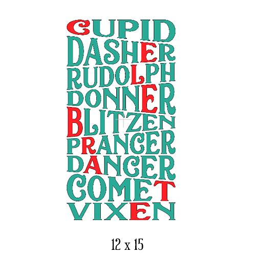 "Cupid Dasher Rudolph (12""x 15"")"