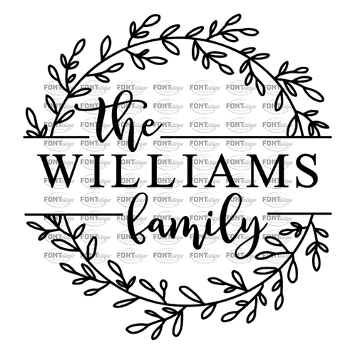 "Family Name Wreath (12""x12"")"