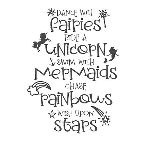 "Dance with fairies, ride a unicorn (12""x18"")"