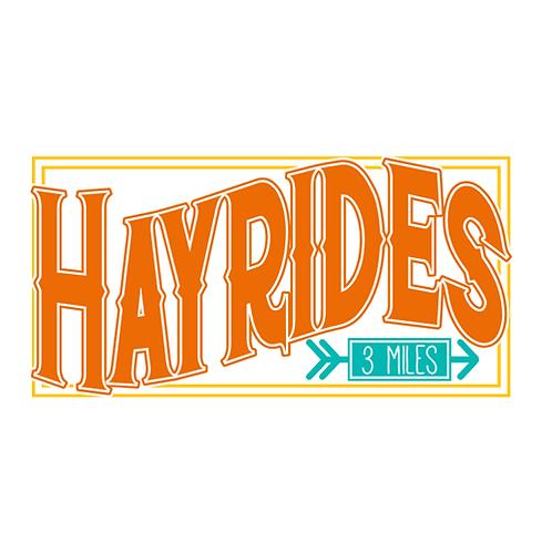 "Hayrides (12""x 18"")"