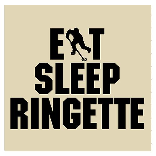 """Eat Sleep Ringette (12""""x 12"""")"""