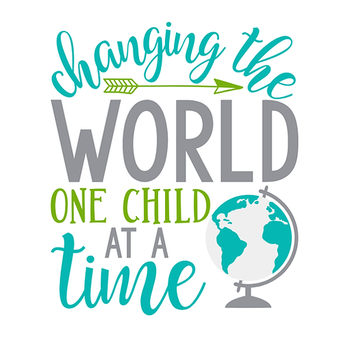 """Changing World One Child at a Time (12""""x12"""")"""