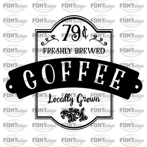 "Coffee freshly brewed (12""x12"")"