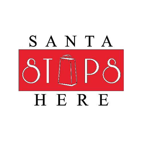 """Santa Stops Here (12""""x 12"""")"""