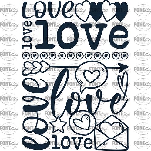 "Love subway (2)  (12""x12"")"