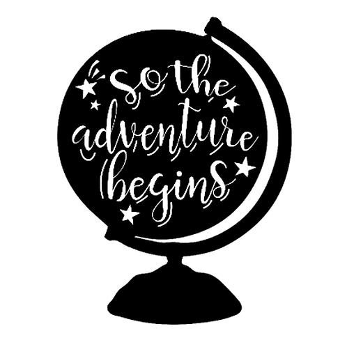 "So the adventure begins (Globe) (12""x 12"")"