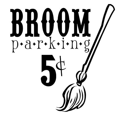 """Broom Parking (12""""x 12"""")"""