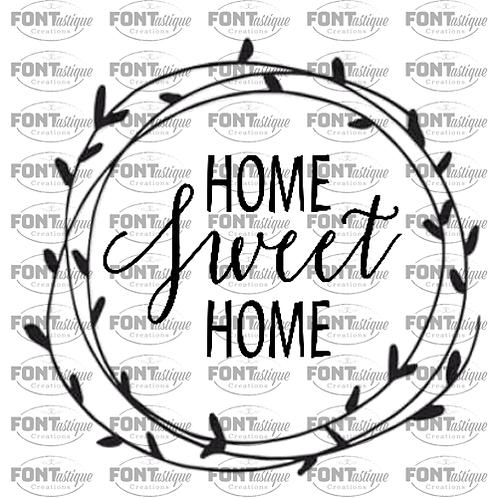 "Home Sweet Home wreath-2 (12""x12"")"