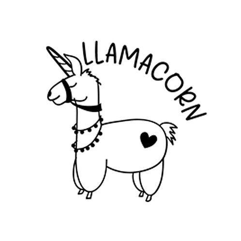 """Llamacorn (12""""x12"""")"""