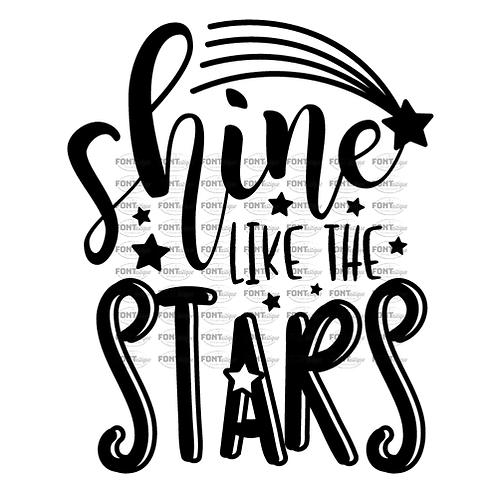 "Shine like the Stars  (12""x 12"")"