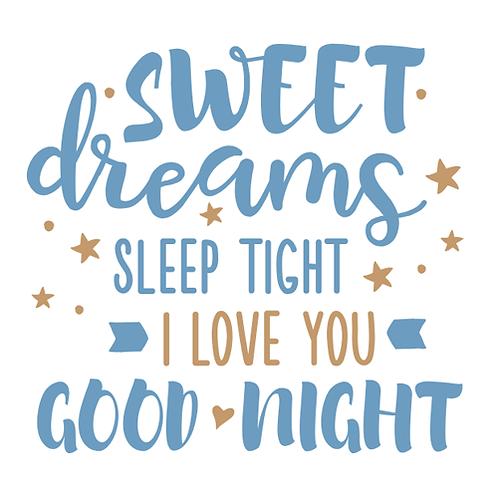 "Sweet Dreams Good Night (12""x12"")"