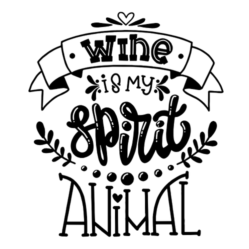 "Wine is my spirit animal (12""x12"")"