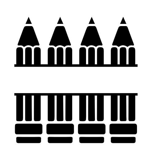 "Split Pencils (add name) (12""x12"")"