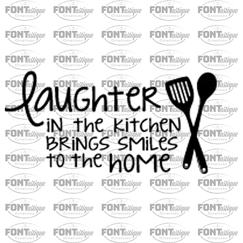 "Laughter in kitchen (12""x24"")"
