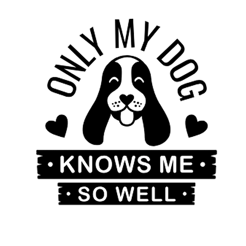 """Only my Dog Knows me (12""""x 12"""")"""