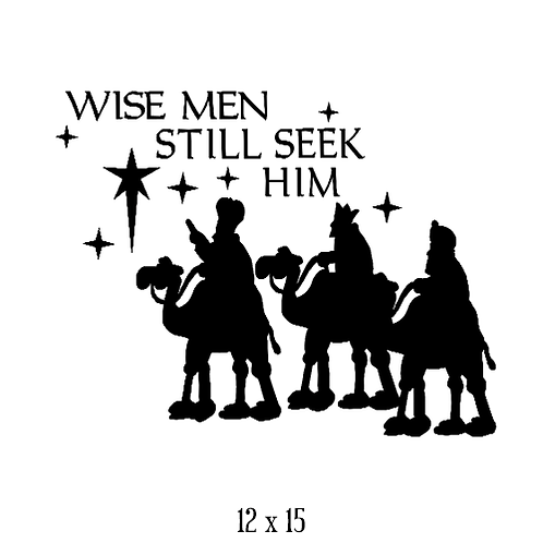"Wise Men Still Seek Him-with figures (12""x 15"")"
