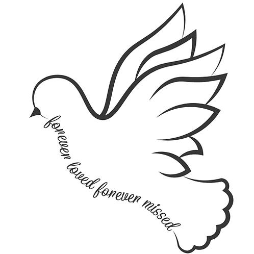 """Bird - Forever loved forever missed  (12""""x 12"""")"""