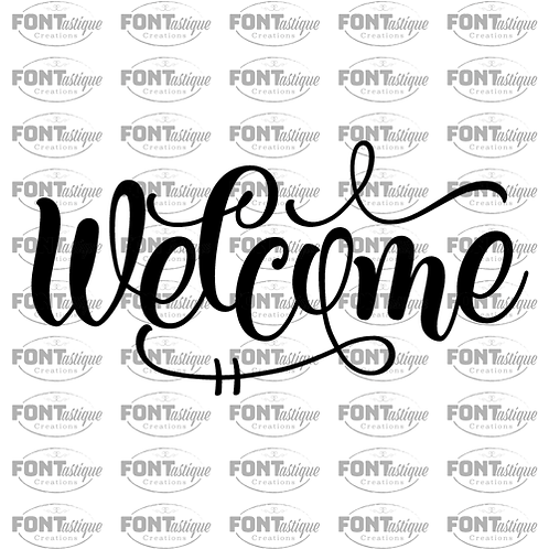 """Welcome (12""""x24"""")"""