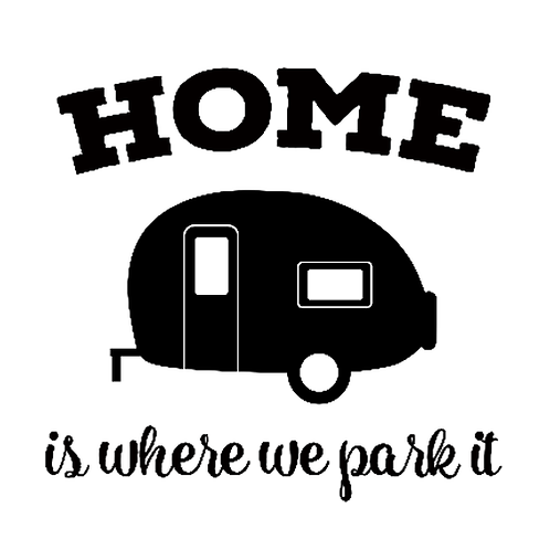 "Home is where we park it Camper (12""x12"")"